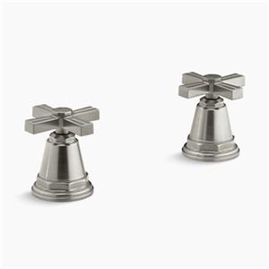 KOHLER Pinstripe Vibrant Brushed Nickel Bath- or Deck-Mount High-Flow Bath Valve Trim