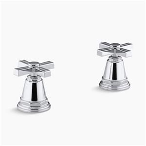KOHLER Pinstripe Polished Chrome Bath- or Deck-Mount High-Flow Bath Valve Trim