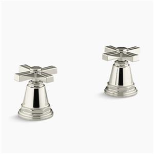 Kohler Pinstripe Vibrant Polished Nickel Bath- or Deck-Mount High-Flow Bath Valve Trim