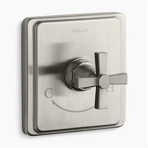 Kohler Pinstripe Vibrant Brushed Nickel Pure Thermostatic Valve Trim