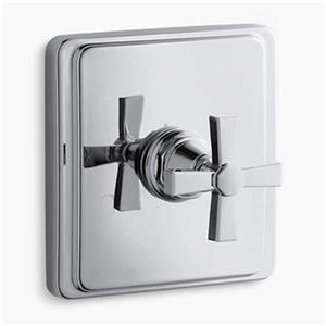 KOHLER Pinstripe Polished Chrome Pure Thermostatic Valve Trim