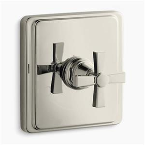 Kohler Pinstripe Vibrant Polished Nickel Pure Thermostatic Valve Trim