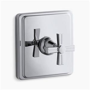 KOHLER Pinstripe Polished Chrome Thermostatic Valve Trim
