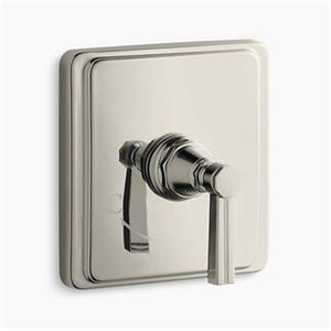 KOHLER Pinstripe Vibrant Polished Nickel Thermostatic Valve Trim