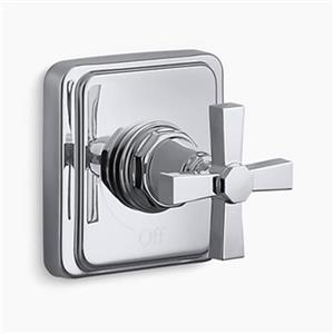 KOHLER Pinstripe Polished Chrome Pure Volume Control Trim
