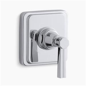 KOHLER Pinstripe Polished Chrome Lever Handle Volume Control Trim