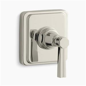 KOHLER Pinstripe Vibrant Polished Nickel Lever Handle Volume Control Trim