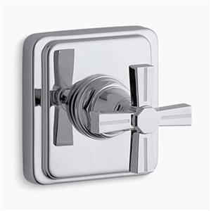 KOHLER Pinstripe Polished Chrome Cross Handle Transfer Valve Trim