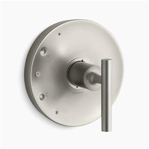KOHLER Purist Vibrant Brushed Nickel Lever Handle Rite-Temp Valve Trim