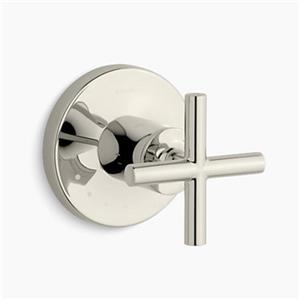 KOHLER Purist Vibrant Polished Nickel Cross Handle Volume Control Valve Trim