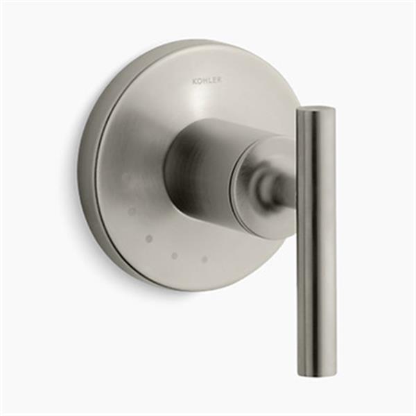 KOHLER Purist Vibrant Brushed Nickel Lever Handle Volume Control Valve Trim