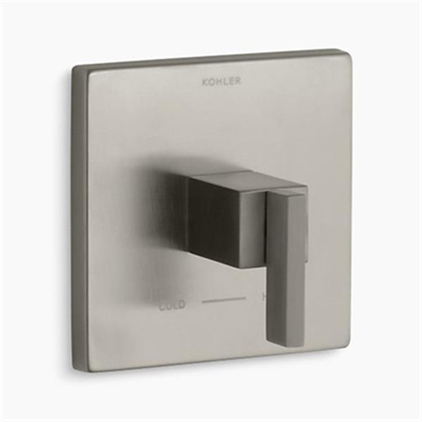 KOHLER Loure Vibrant Brushed Nickel Lever Handle Thermostatic Valve Trim