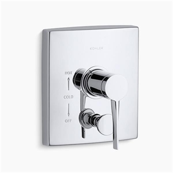 KOHLER Stance Polished Chrome Lever Handle Rite-Temp Valve Trim