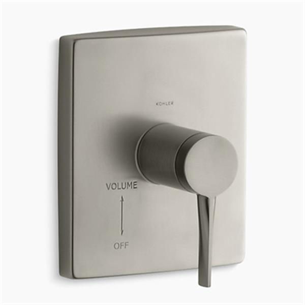 KOHLER Coralais Vibrant Brushed Nickel Volume Control Valve Trim