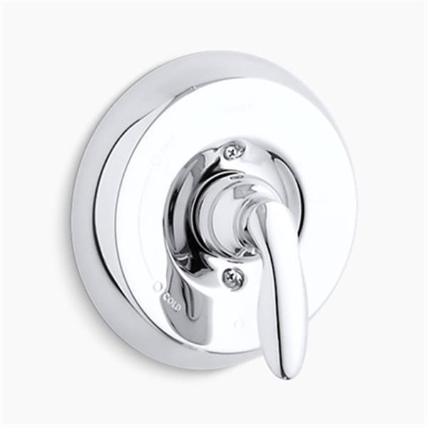 KOHLER Coralais Polished Chrome Mixing Valve Trim with Lever Handle