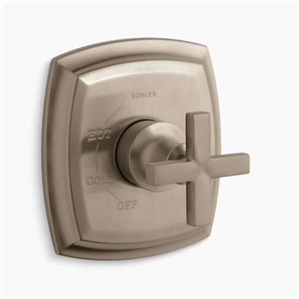 KOHLER Margaux Vibrant Brushed Bronze Rite-Temp Pressure-Balancing  Valve Faucet Trim