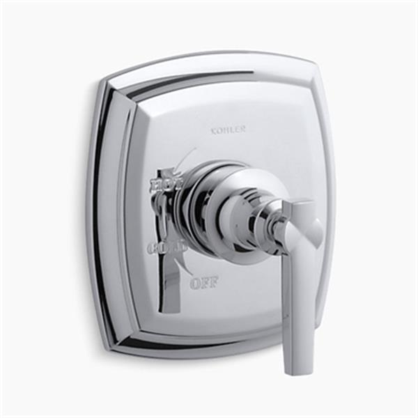 KOHLER Margaux Polished Chrome Rite-Temp Pressure-Balancing Valve Faucet Trim with Lever Handle
