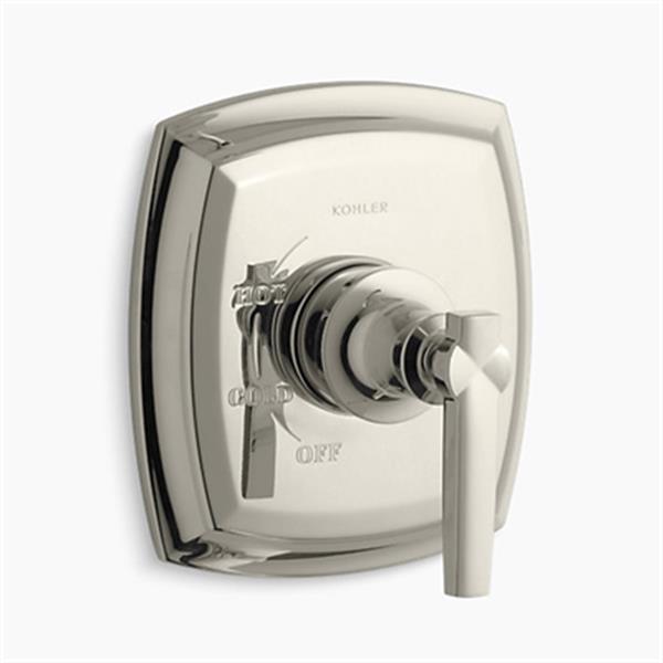 KOHLER Margaux Vibrant Polished Nickel Rite-Temp Pressure-Balancing Valve Faucet Trim with Lever Handle