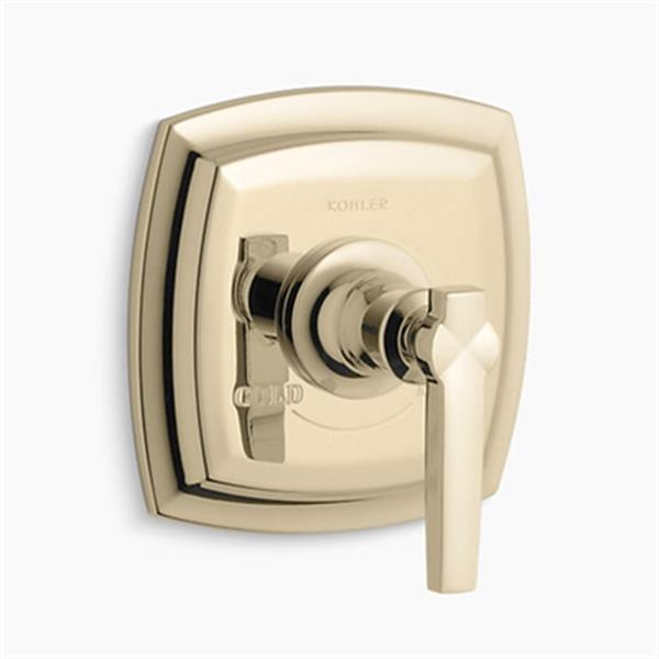 KOHLER Margaux Vibrant French Gold Thermostatic Valve Trim