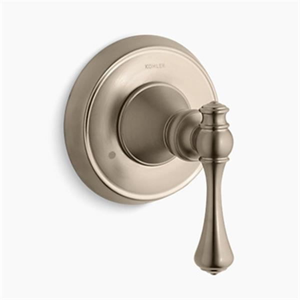 KOHLER Revival Vibrant Brushed Bronze Transfer Valve Trim