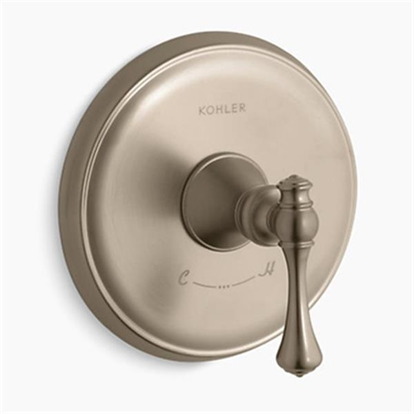 KOHLER Revival Vibrant Brushed Bronze Thermostatic Valve Trim