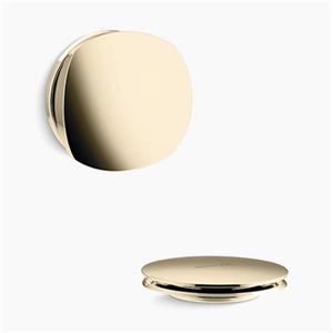 KOHLER PureFlo Rotary Turn Bath Drain Trim (French Gold)