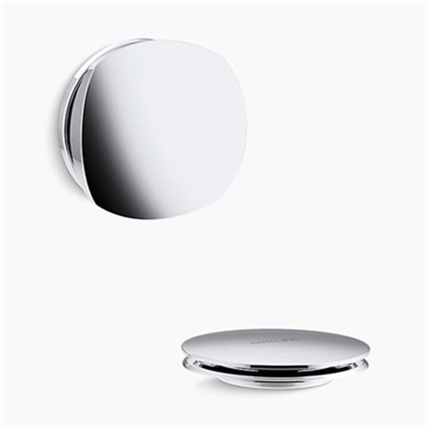 KOHLER PureFlo Rotary Turn Bath Drain Trim (Polished Chrome)