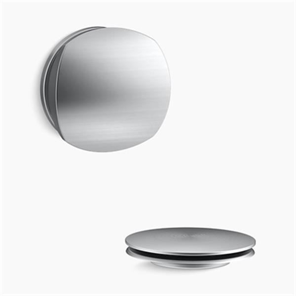 KOHLER PureFlo Rotary Turn Bath Drain Trim (Brushed Chrome)