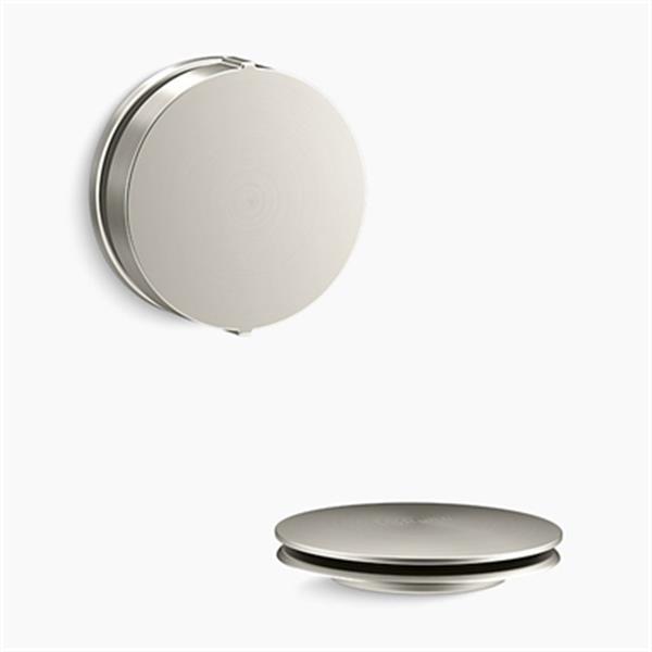 KOHLER PureFlo Contemporary Rotary Turn Bath Drain Trim (Brushed Nickel)