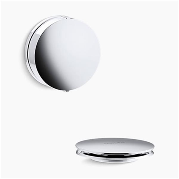KOHLER PureFlo Contemporary Rotary Turn Bath Drain Trim (Polished Chrome)