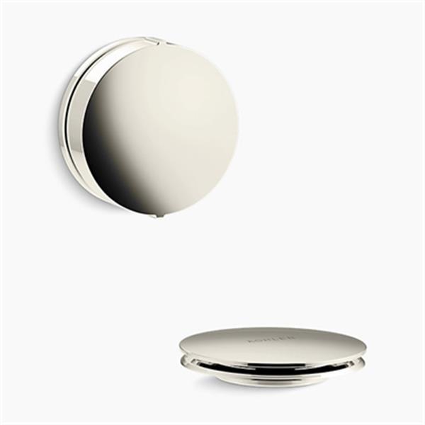 KOHLER PureFlo Contemporary Rotary Turn Bath Drain Trim (Polished Nickel)