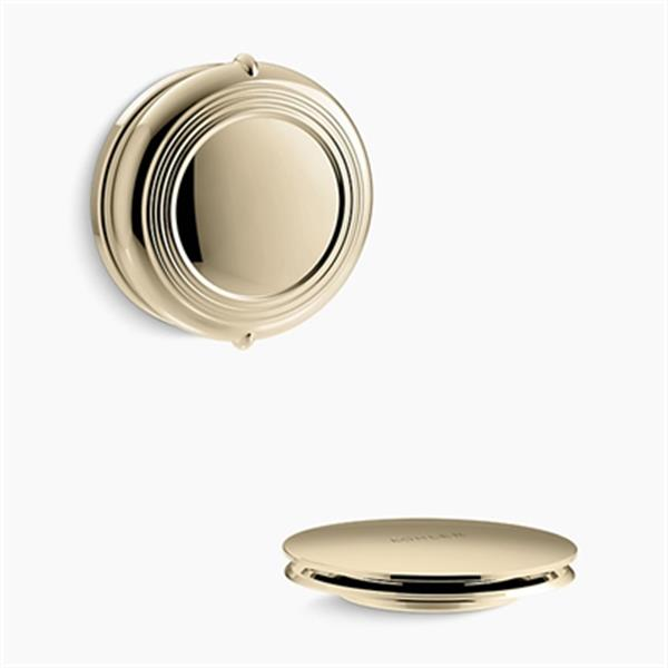 KOHLER PureFlo Traditional Rotary Turn Bath Drain Trim (French Gold)