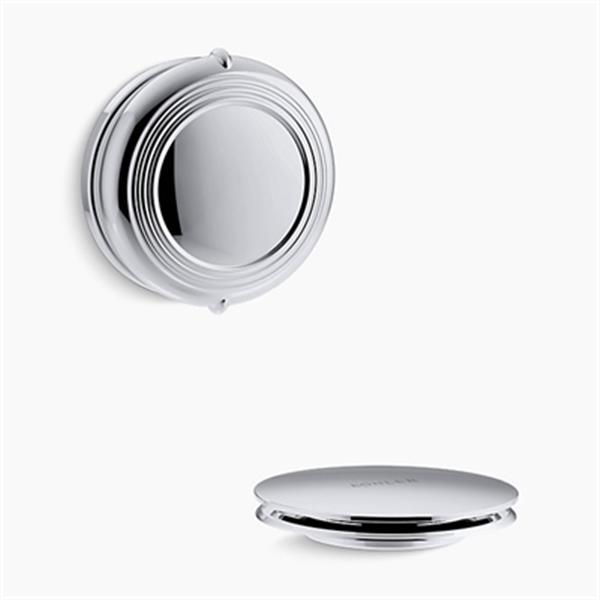 KOHLER PureFlo Traditional Rotary Turn Bath Drain Trim (Polished Chrome)