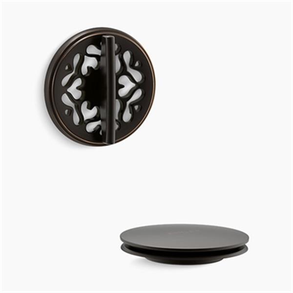 KOHLER PureFlo Victorian Rotary Turn Bath Drain Trim (Oil-Rubbed Bronze)