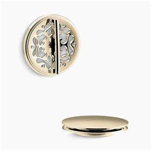 KOHLER PureFlo Victorian Rotary Turn Bath Drain Trim (French Gold)