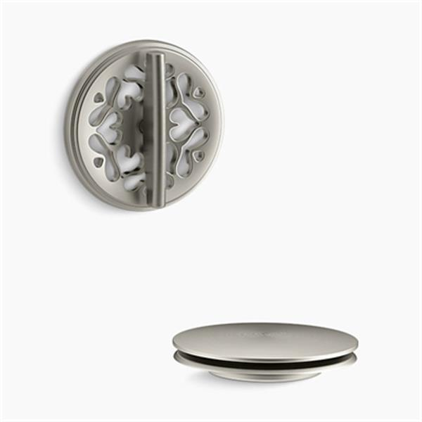 KOHLER PureFlo Victorian Rotary Turn Bath Drain Trim (Brushed Nickel)