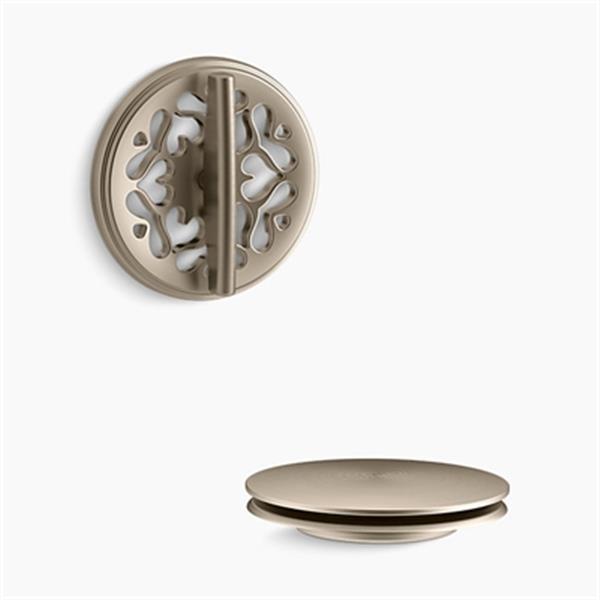 KOHLER PureFlo Victorian Rotary Turn Bath Drain Trim (Brushed Bronze)