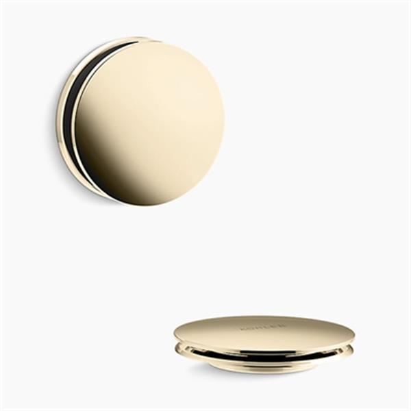 KOHLER PureFlo Contemporary Push Button Bath Drain Trim (French Gold)