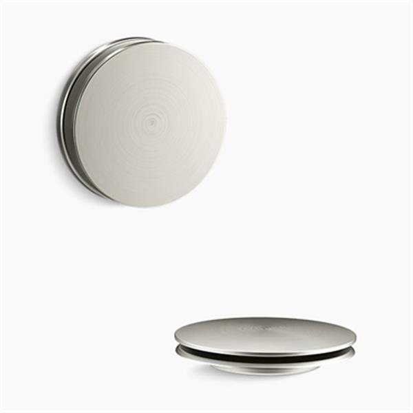 KOHLER PureFlo Contemporary Push Button Bath Drain Trim (Brushed Nickel)