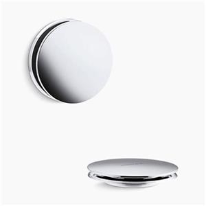 KOHLER PureFlo Contemporary Push Button Bath Drain Trim (Polished Chrome)