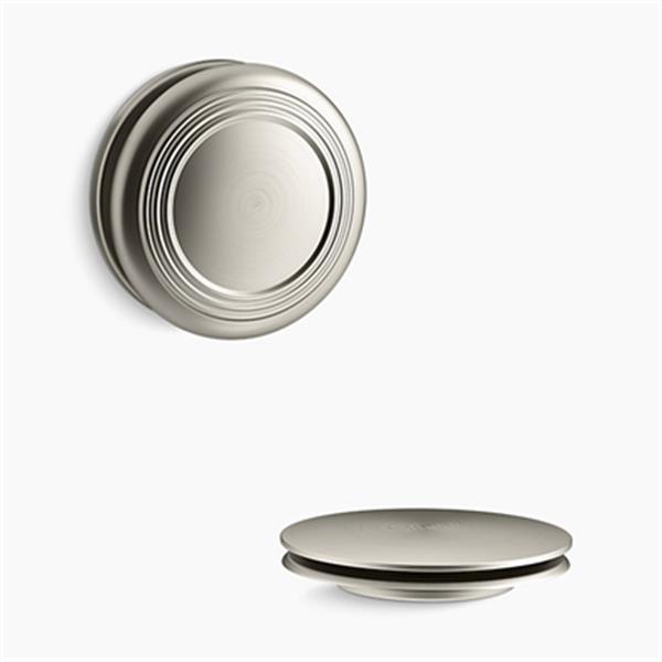 KOHLER PureFlo Traditional Push Button Bath Drain Trim (Brushed Nickel)