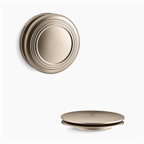 KOHLER PureFlo Traditional Push Button Bath Drain Trim (Brushed Bronze)