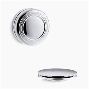 KOHLER PureFlo Traditional Push Button Bath Drain Trim (Polished Chrome)