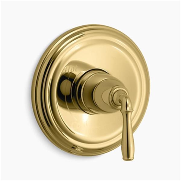 KOHLER Devonshire Vibrant Polished Brass Pressure-Balancing Valve Trim