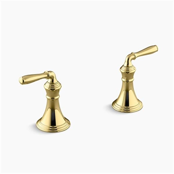KOHLER Vibrant Polished Brass Deck-/Rim-Mount Bath Faucet Trim