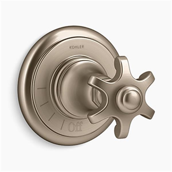 KOHLER Artifacts Vibrant Brushed Bronze Volume Control Valve Trim