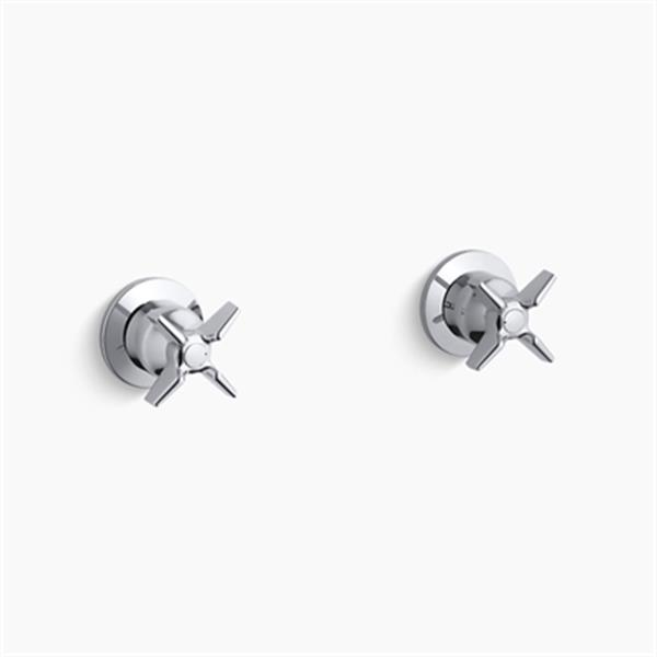 KOHLER Triton Polished Chrome Two Handle Wall-Mount Valve Trim
