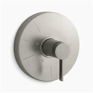 KOHLER Stillness Vibrant Brushed Nickel Rite-Temp Valve Trim