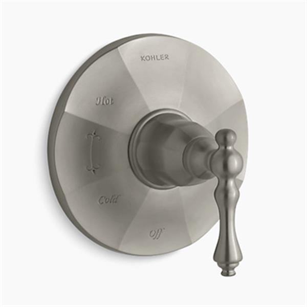 KOHLER Kelston Vibrant Brushed Nickel Rite-Temp Pressure-Balancing Valve Trim