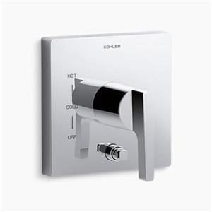 KOHLER Honesty Polished Chrome Valve Trim with Push-Button Diverter